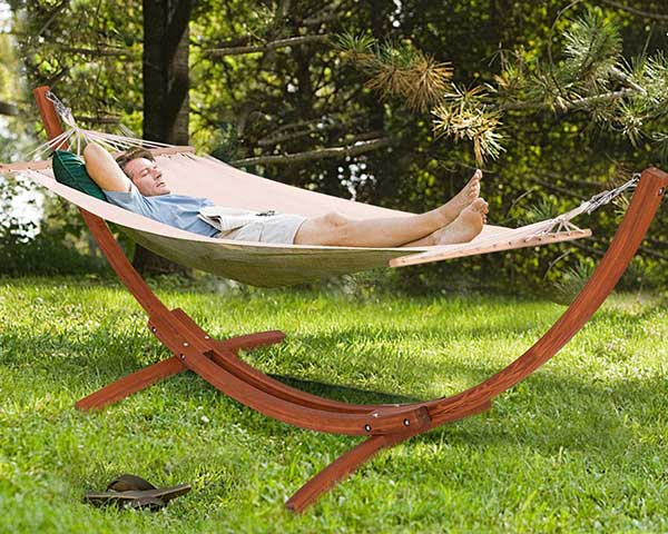 Giantex Wooden Curved Arc Wide Hammock Swing