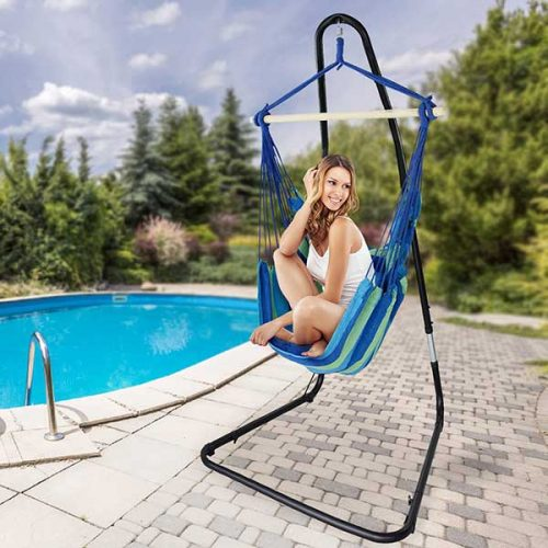 Sorbus Free Standing Hanging Chair Stand