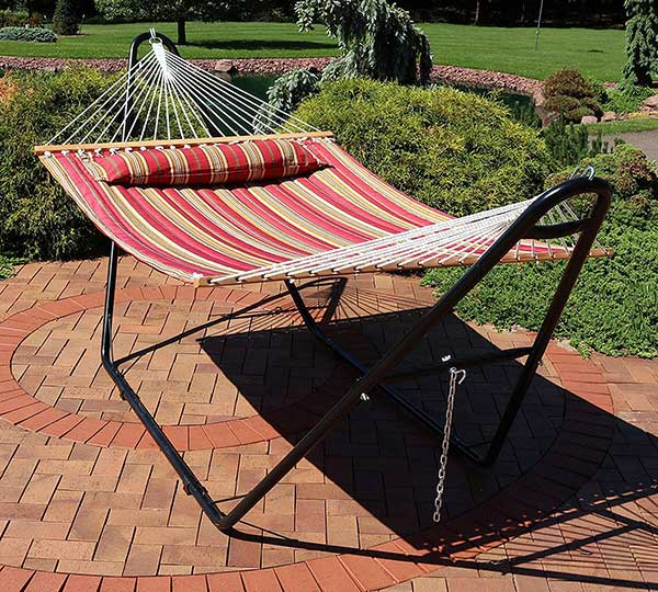 Sunnydaze Universal Multi-Use Heavy-Duty Steel Hammock Stand