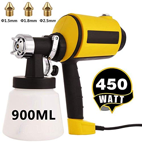 High Power HVLP Electric Spray Gun with Detachable Container