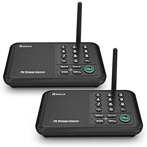 Qniglo Wireless Intercom System 10 Channel ½ Mile Long Range