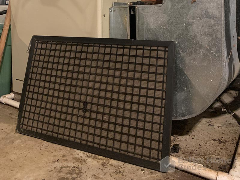 Side View of a Furnace Filter