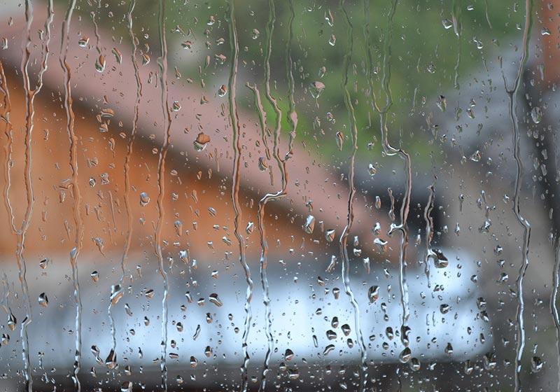 Rain and Moisture on Window