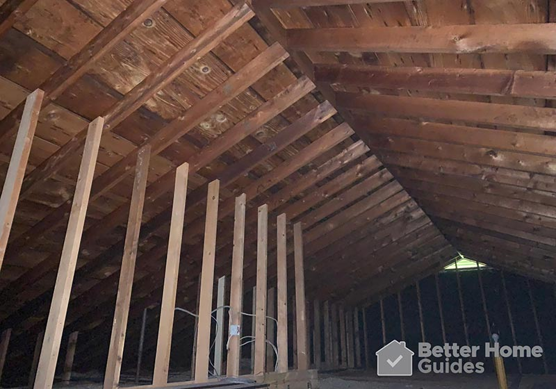 Roof Joists During Hot Day