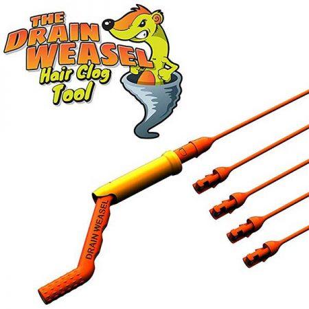 FlexiSnake Drain Weasel Sink Snake Drain Clog Remover Kit