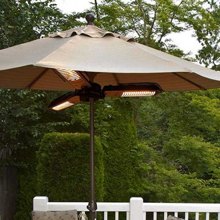 Star Patio Parasol Folding Umbrella Electric Patio Space Heater