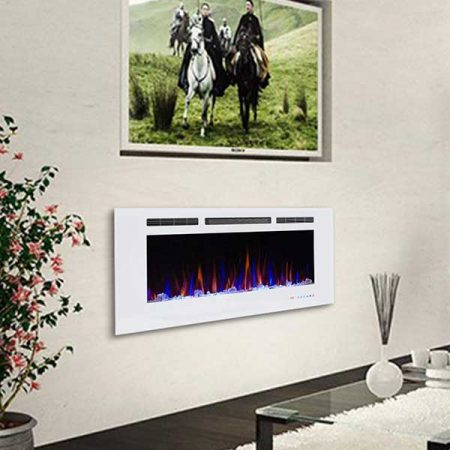 Valuxhome Armanni Recessed Electric Fireplace Heater